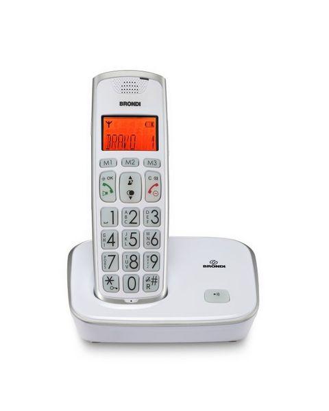 Brondi Bravo Gold Telefono DECT Identificatore di chiamata Bianco
