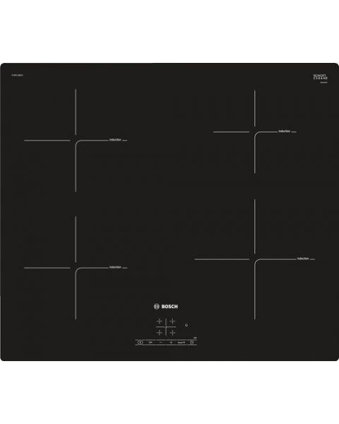 Bosch Serie 4 PUE611BB1E piano cottura Nero Da incasso Piano cottura a induzione Zoneless 4 Fornello(i)