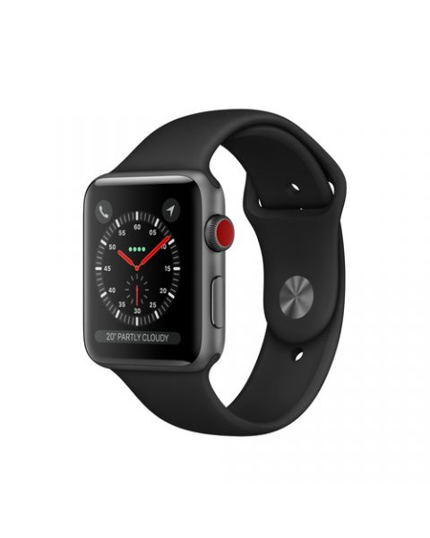 Apple Watch Series 3 GPS + Cellular, 38mm in alluminio grigio siderale con cinturino Sport Nero
