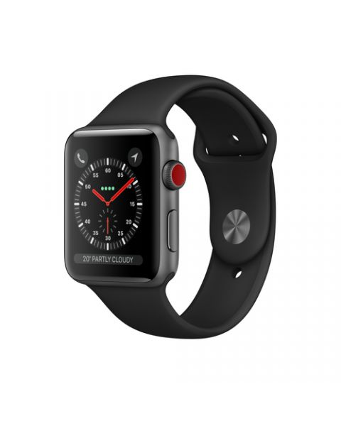 Apple Watch Series 3 GPS + Cellular, 42mm in alluminio grigio siderale con cinturino Sport Nero