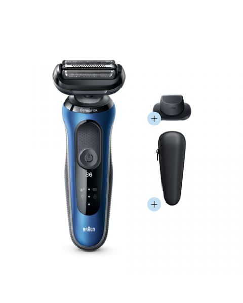 Braun Series 6 Rasoio Trimmer Blu