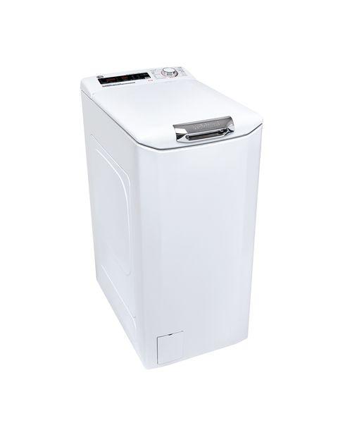 Hoover H3TSM48TAMCE-11 lavatrice Libera installazione Caricamento dall'alto 8 kg 1400 Giri/min B Bianco