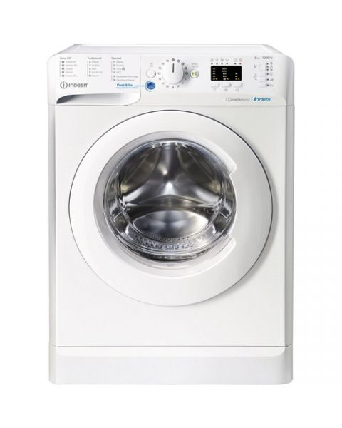 Indesit BWA 81284X W IT N lavatrice Libera installazione Caricamento frontale 8 kg 1200 Giri/min C Bianco