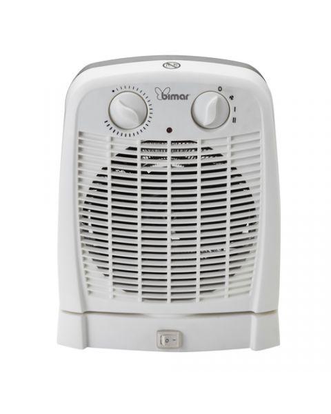 Bimar HF195 stufetta elettrica Interno Nero, Bianco 2000 W Riscaldatore ambiente elettrico con ventilatore