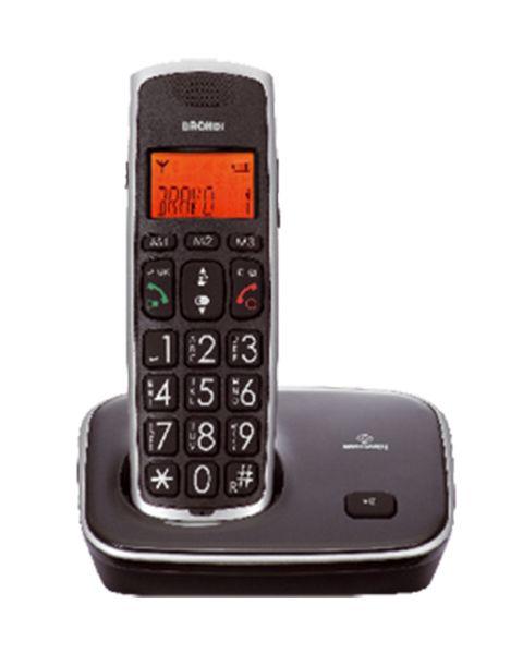 Brondi Bravo Gold Telefono DECT Identificatore di chiamata Nero