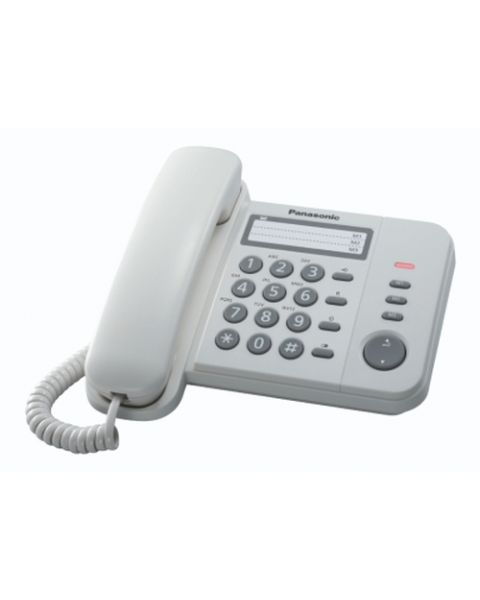 Panasonic KX-TS520EX1W telefono Identificatore di chiamata Bianco